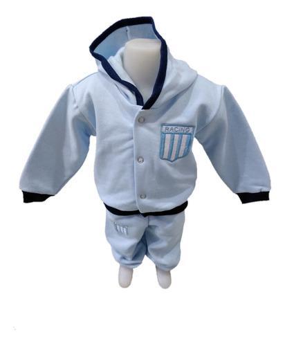 Conjunto bebé racing club algodón