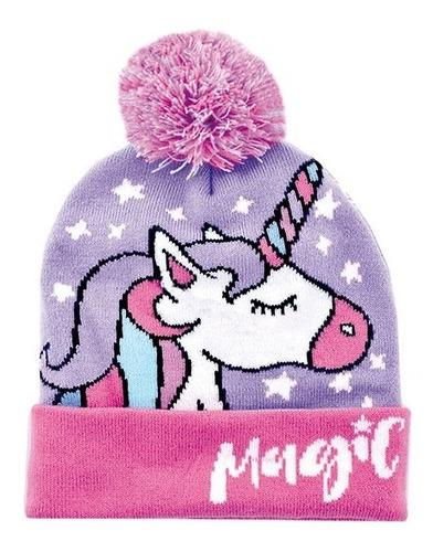 Gorro footy lana y guantes unicornio little pony frozen