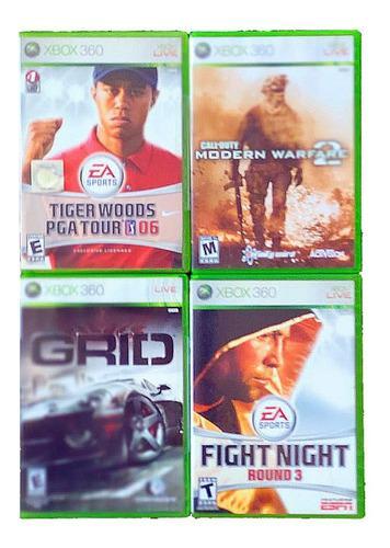 Lote 4 juegos xbox 360 originales