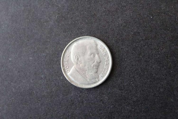 Moneda argentina, 1951, 10 centavos, anverso josé de san