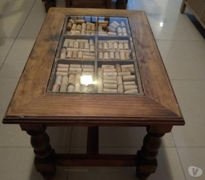 Mesa ratona de madera de pino