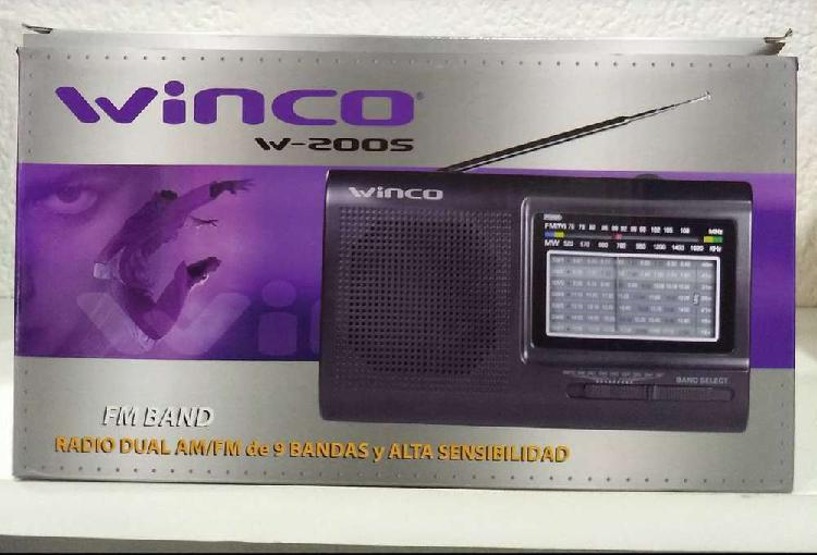 Radio dual am/fm winco (dial analogico)