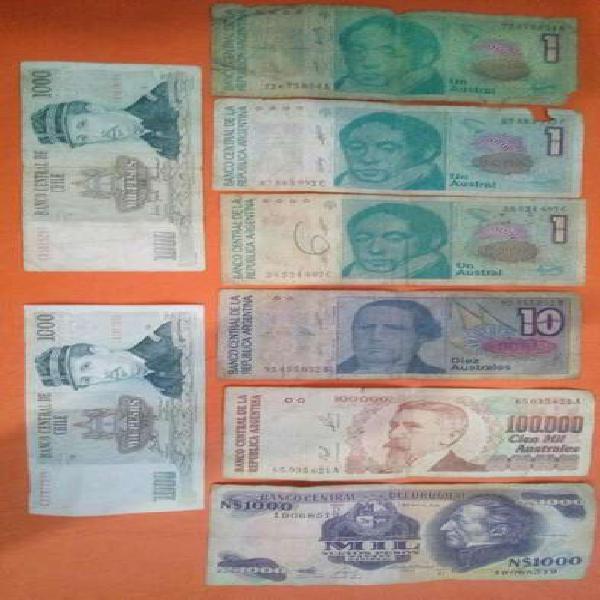 Vendo billetes antiguos para colección