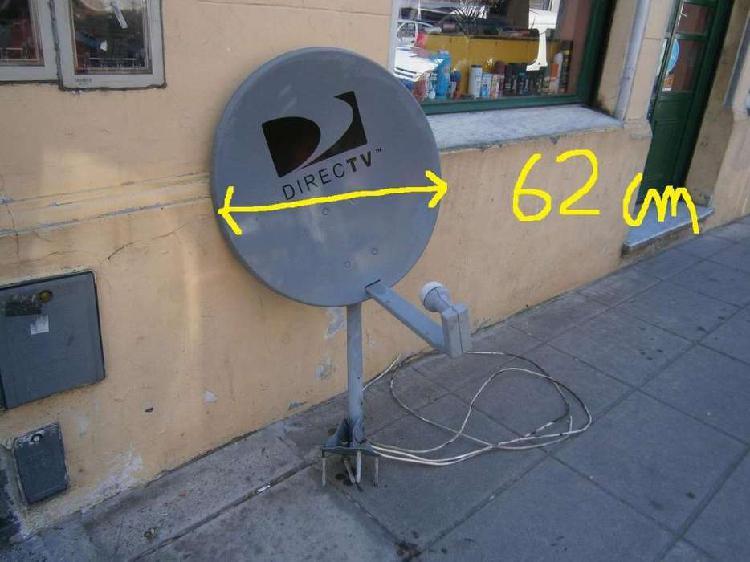 Antena de direc tv mide 62 cm diametro