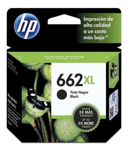 Cartucho hp 662 xl negro original para impresora 2515 3515