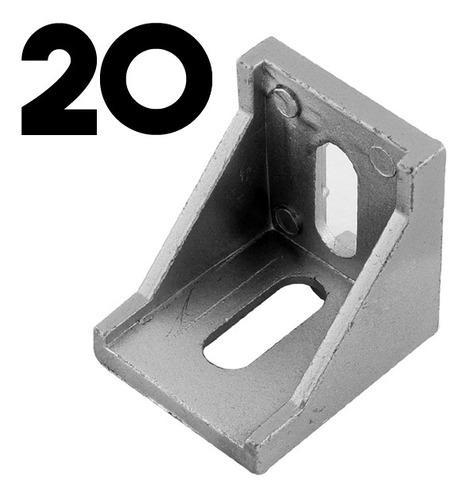 Escuadra perfil aluminio 2020 impresora 3d core bosch angulo