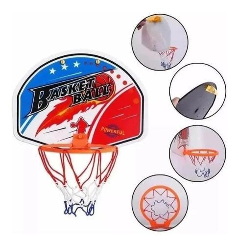 Mini aro basquet infantil tablero red pelota basket inflable