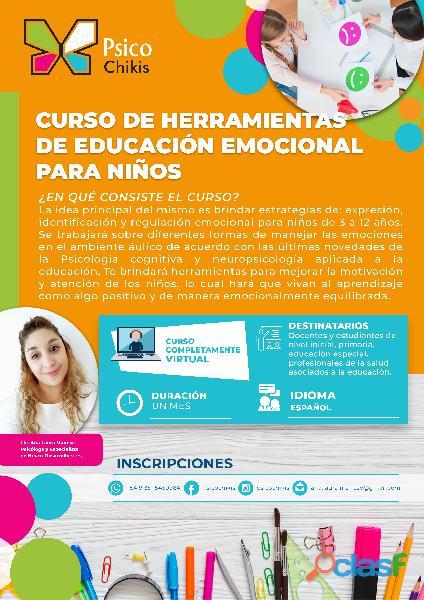 Curso de formación en educación emocional para niños