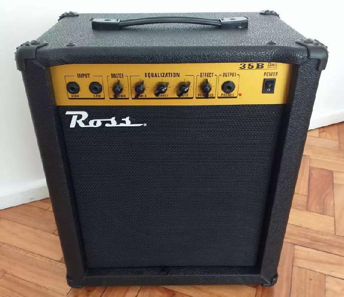 Amplificador de bajo * ross 35 b * inmaculado