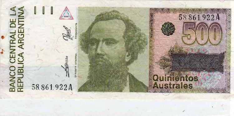 Billete 500 australes