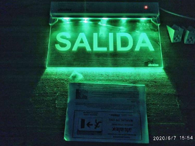 Cartel luminoso de salida led