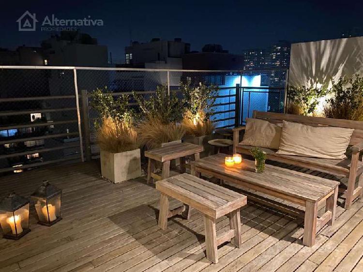 Duplex 3 amb con terraza, reciclado, en palermo