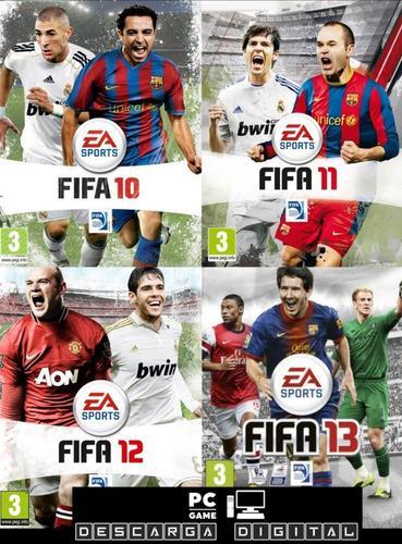 Fifa 10+ 11 + 12 +13 (4 juegos) pc digital español