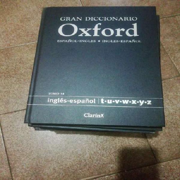 Gran diccionario oxford 14 tomos inglés español