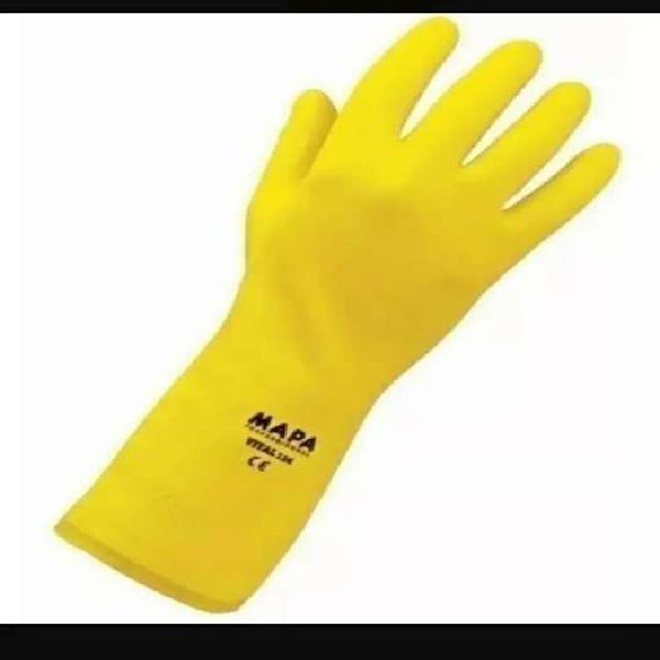 Guante de látex amarillo mapa vital 124 limpieza