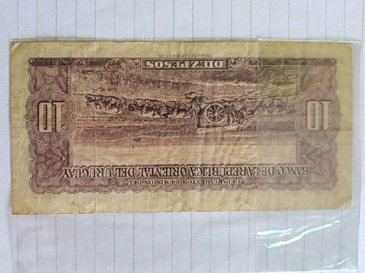 Lote b1 - billete uruguay $ 10