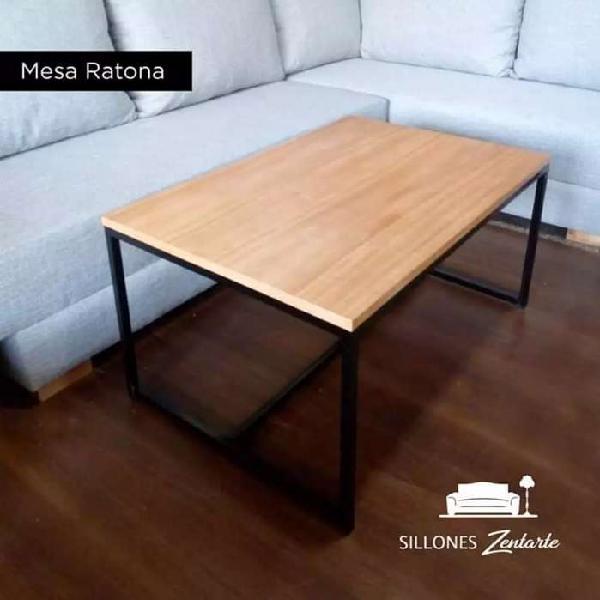 Mesas ratonas hierro y madera