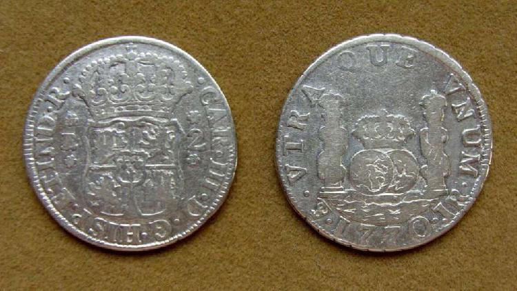 Moneda de 2 reales virreinato del río de la plata 1770