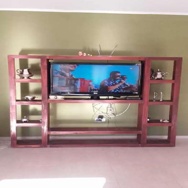 Rack para tv con estantes.apto para tv de hasta 42 pulgadas.