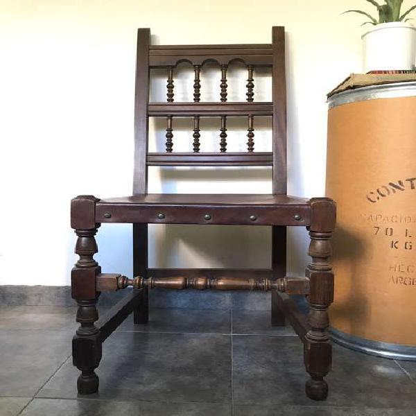 Remato silla antigua madera