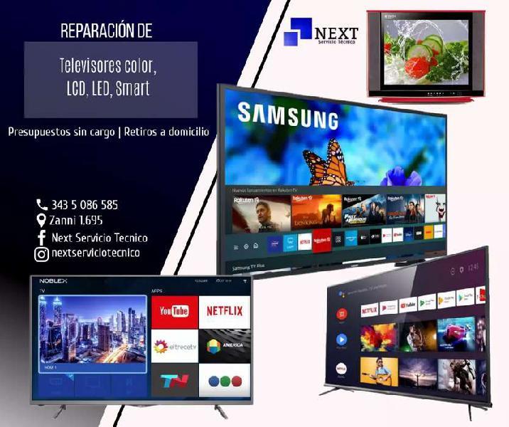 Reparacion televisores - presupuestos sin cargo