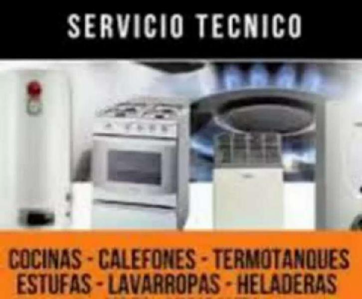 Servicio técnico de reparación de cocinas calefones