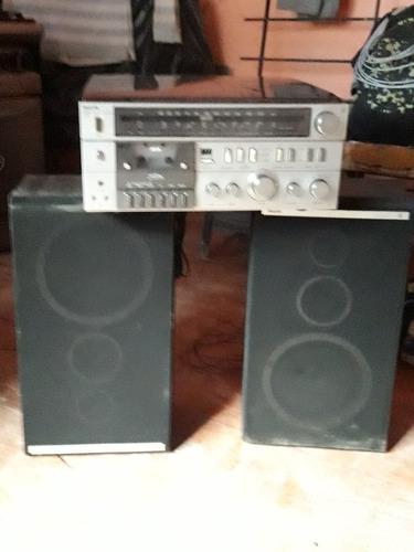 Sistema de audio philips toca discos casettes y radio