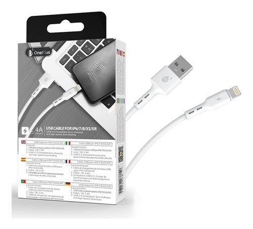 Cable usb lightning apple iphone ipad ipod 1 metros para