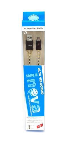 Cables micro usb led x mayor carga rapida datos reforzados