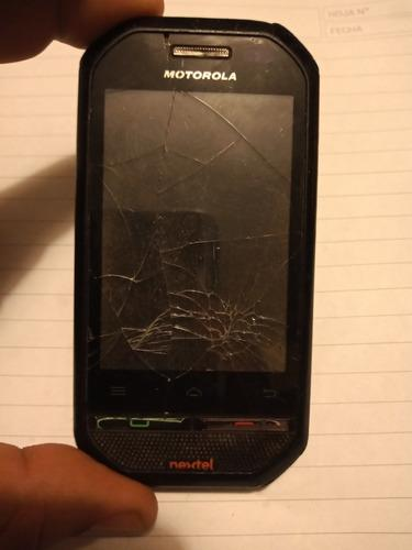 Motorola nextel i867 astillado para repuestos sin batería