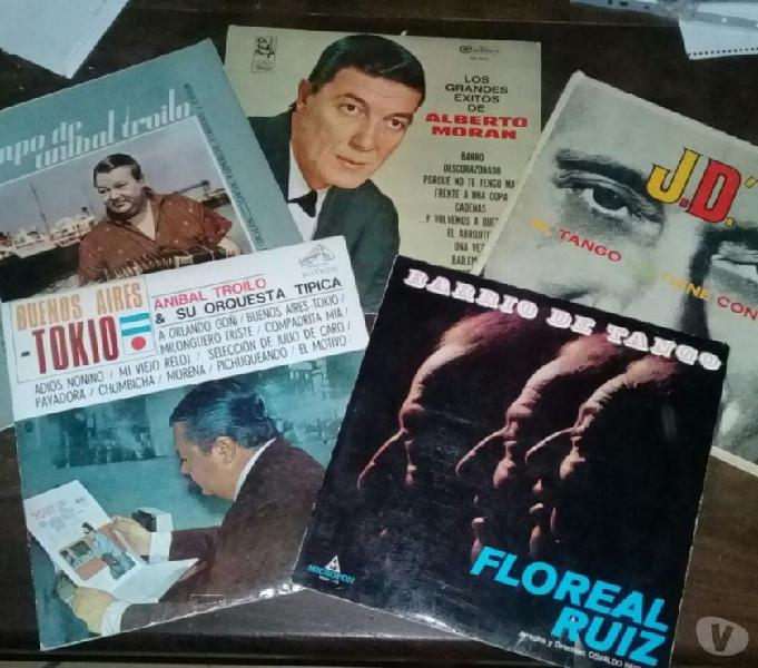 Vendo discos de vinilo tango varios intérpretes