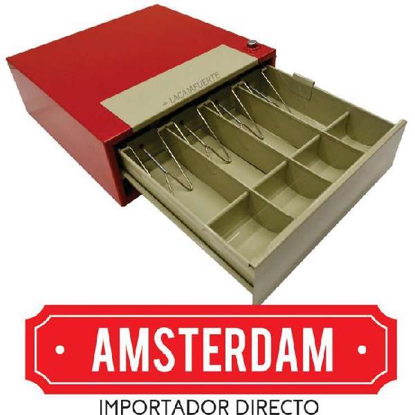 Caja gaveta registradora guarda dinero para comercios de 4
