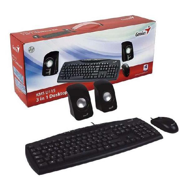 Combo teclado, mouse y parlantes genius kms u115 cm 1386