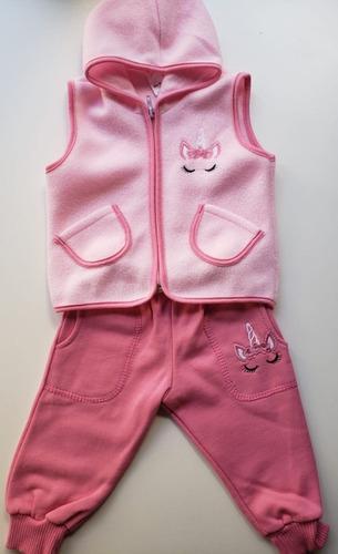 Conjuntos para bebé chaleco polar y pantalón frizado