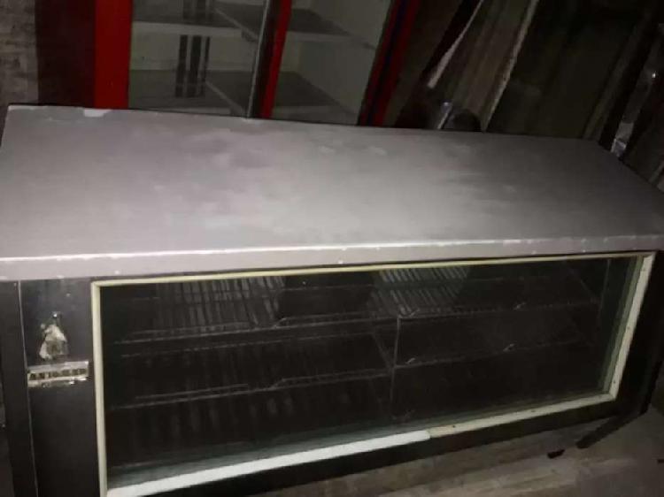 Heladera mostrador exhibidora comercial 2 puertas acero