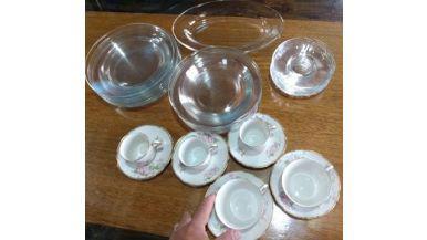 Set de vajilla, cristal frances impecable todo x $ 1.500