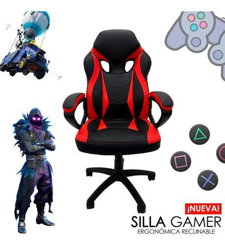 Silla gamer escritorio oficina reclinable ergonómica