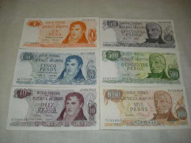 Billetes pesos ley...sin circular! (x6)