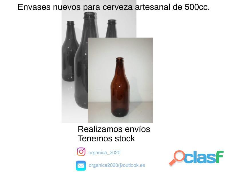 Envases nuevos para cerveza artesanal de 500cc