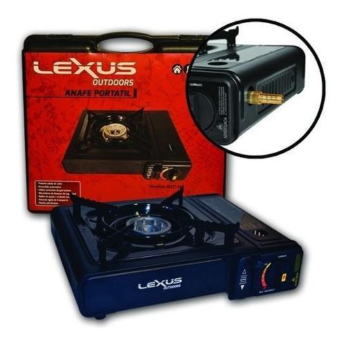 Anafe portatil lexus dual 1 hornalla color negro para garraf