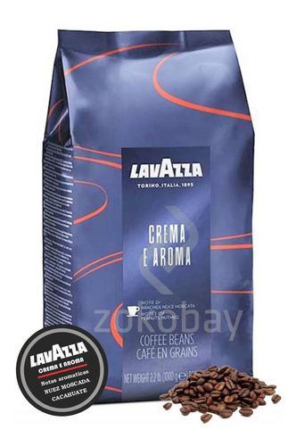 Café en grano lavazza crema e aroma x 1 kg italiano