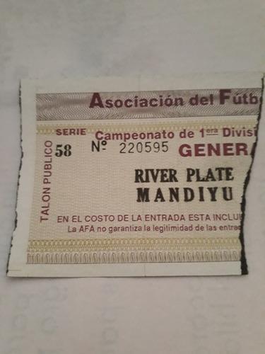 Entrada river plate vs deportivo mandiyu 1993