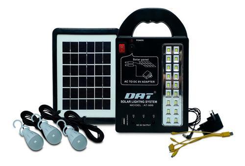 Kit portátil luz solar para pesca, caza, camping, otros