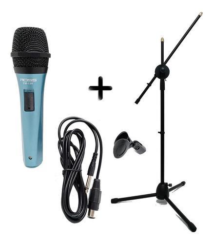 Micrófono para karaoke con accesorios pie pipeta cable