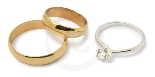 Alianzas oro 18kts 3 grs el par anillo casamiento cintillo