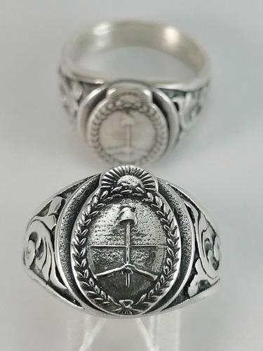 Anillo escudo nacional plata 925 nuevo a único diseño