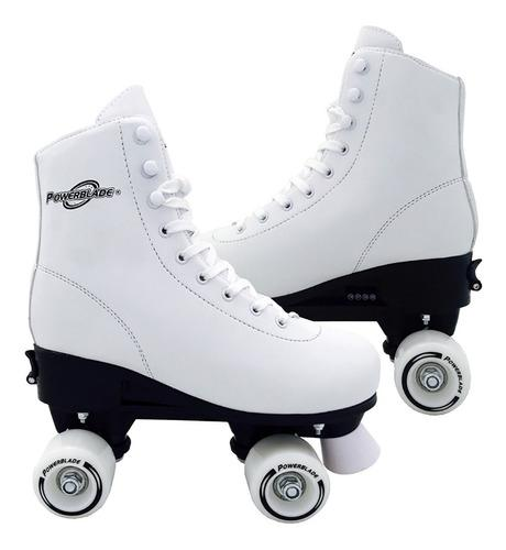 Patines artisticos extensibles blancos 222ex talle s, m, l