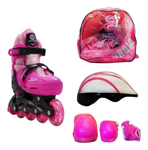 Rollers extensibles bolso protecciones casco talle xs s m l
