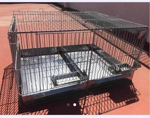 Jaula galvanizada para cobayo conejo chinchilla 65 x 52 x 34