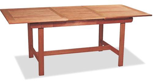 Mesa de madera extensible 1.50/2.20x0.87 jardín ecomadera